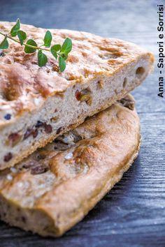 ANNA-SAPORI E SORRISI: Focaccia integrale con olive