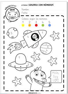 Solar System Activities, Space Activities For Kids, Preschool Math Games, Space Preschool, Kids Math Worksheets, Preschool Lessons, Math For Kids, Preschool Activities, 1st Grade Homework