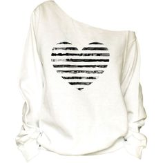 Heart Print Oversized Off Shoulder Raw Edge Sweatshirt 98 ($29) ❤ liked on Polyvore featuring tops, hoodies, sweatshirts, black, women's clothing, off the shoulder tops, off the shoulder sweatshirt, off the shoulder sweat shirt, black top and oversized sweat shirts
