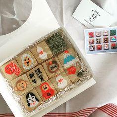 お正月クッキー♡ お店に並ぶ自信がなかっ Advent Calendar, Icing, Japan, Holiday Decor, Okinawa Japan