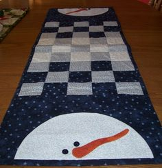 snowman table runner pattern | Snowman Table runner