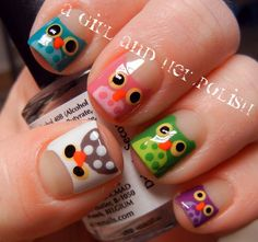 I LOVE this design! Polka dots turned animals! An advanced version of polka dots for nail art beginners like me