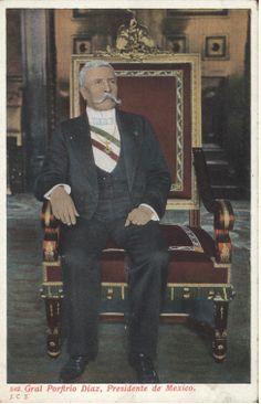 Don Porfirio en la silla presidencial