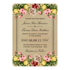 The Elegant Vintage Floral Wedding Collection