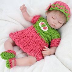 16-039-039-Handmade-Lifelike-Baby-Girl-Doll-Vinyl-Sleeping-Reborn-Newborn-Dolls-Clothe