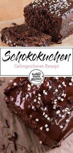 Simple juicy chocolate cake Baking makes you happy- Einfacher saftiger Schokokuchen My Favorite Food, Favorite Recipes, Best Chocolate Cake, Bolo Chocolate, Baking Chocolate, Berry, Best Oatmeal, Good Foods For Diabetics, Organic Sugar