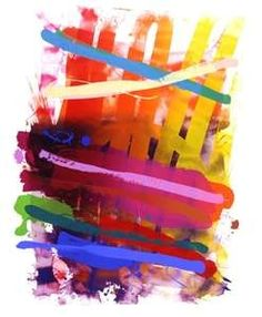 Albert Irvin - Abstract print: