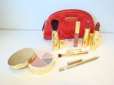 Coach Cometic Bag  Estee Lauder Deluxe Compact Lipsticks Lip Gloss Eye Pencil  Brushes Boxed Set *** More info could be found at the image url.