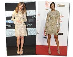Adriana Ugarte y Eva González, de Teresa Helbig (colección otoño-invierno 2012-2013) #celebritystyle