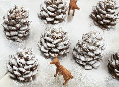 Quick + Easy Snowy Chocolate Pinecones Recipe