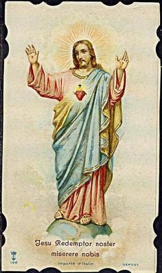 Heart Of Jesus, Jesus Is Lord, God, Catholic Art, Roman Catholic, White Jesus, Vintage Holy Cards, Jesus Christ Images, Christ The King