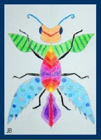 Een fantasie insect, maar met regels van opbouw insect.