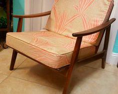 Mid Century Modern Danish Teak Chair Drawing от RenderingsByAshley