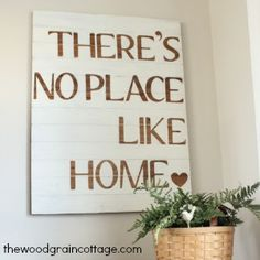 the wood grain cottage diy sign - use this phrase for one of the mirror-style wall hangins and put in entryway?