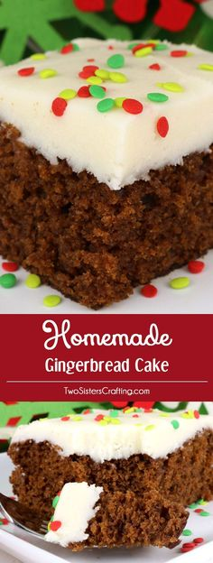 homemade gingerbread cake - Classic Christmas Desserts