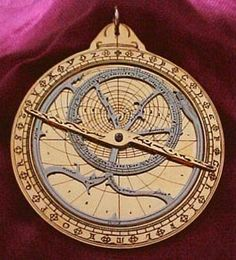 "Astrolabe~ An astrolabe (Greek: ἀστρολάβον astrolabon, ""star-taker"""