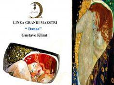 br05 Bracciale dipinto a mano - Danae- Klimt