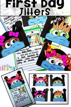 Engaging craft and writing activity for First Day Jitters. Includes vocabulary cards as well.