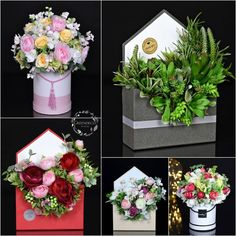 Contemporary Flower Arrangements, Creative Flower Arrangements, Flower Centerpieces, Floral Arrangements, Flower Box Gift, Flower Boxes, Flower Cards, Paper Flowers, Flower Artwork