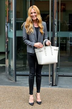 Cat Deeley with Aspinal of London's Marylebone Tote