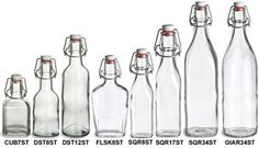 Specialty Bottle - Swingtop Glass Bottles. A website with all sorts of bottles for all your DIYs projects!