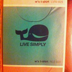 Live Simply whale, Patagonia tshirt