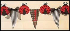 Ladybug Birthday Highchair Banner