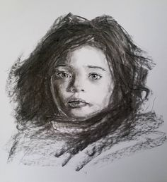 "78 mentions J'aime, 7 commentaires - Hiba Shahin (@hiba_shahin_art) sur Instagram : ""#charcoal #child #afraid #eyes #art #drawing #draw #dailysketch #dailydrawing #pencilsketch #girl…"""
