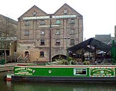 Former Fellows, Morton & Clayton warehouse, small loading cranes and basin on Canal Street, Nottingham.