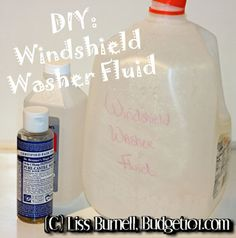 Windshield washer fluid is ridiculously expensive - often $ 3 or more per gallon. Here is a simple, do it yourself recipe that works better than the store-bought counterpart for only .69 a gallon