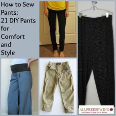 How to Sew Pants: 21 DIY Pants for Comfort and Style offers several choices for the casual adult in need of coverage to the newborn. Not only does learning how to sew pants save you store-wrought stress, it saves you money. By delving into DIY pants, you can maintain your personal style sense and brush up on new and old sewing techniques. It's all here in this collection of DIY clothing.