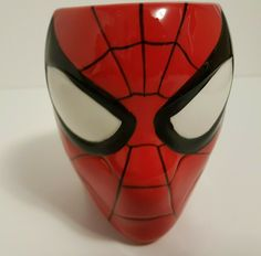 Spider-Man Figural Red Head Coffee Mug by Zak and Marvel Comics  | eBay