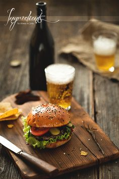 Burger with Beer by Alexey & Julia, via 500px