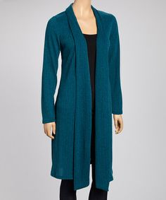 Look what I found on #zulily! Teal Open Cardigan by J-MODE #zulilyfinds