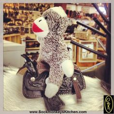 #Cowboy #Sockmonkey rides again! Click the pic for all of the #monkey photos