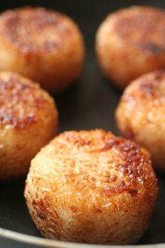Yaki-Onigiri, Japanese Grilled Rice Ball (Scallop, Soy-Souce and Butter)|焼きおにぎり Doesn't translate well, but I'm gonna see if I can find a similar recipe cuz it sounds kinda good.