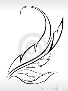Beautiful leaf abstract with outline by Rahultiwari3190, via Dreamstime
