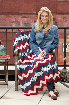 Ravelry: Stars and Stripes Throw pattern by Leigh K. Nestor