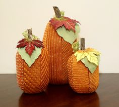 The newest club being offered, a Trio of Pumpkins! Isn't the finishing fantastic!