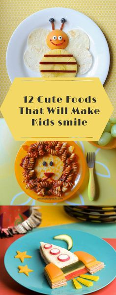 12 Cute Kids' Foods That'll Make Them Smile. I am going to be such a cool mom! I can not wait to make these for my step daughters! (meals for toddlers picky eaters) Cute Snacks, Cute Food, Good Food, Yummy Food, Kid Snacks, Lunch Snacks, Kid Lunches, Summer Snacks, Fruit Snacks