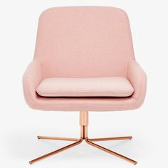 A Match Made in Heaven: Copper + Pink. A lounge chair that pairs copper and pink, available, $1,189 from ABC Carpet & Home.