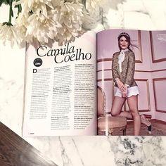 On @glamourbrasil April Issue! ----- Quem já leu minha entrevista para @glamourbrasil deste mês?! Boa noite amores!!! by camilacoelho