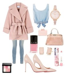 """""""pink and blue"""" by rabiahk on Polyvore featuring Alexander Wang, Carven, Christian Louboutin, Honor, Fendi, River Island, Kate Spade, LAQA & Co., LVX and Ted Baker"""
