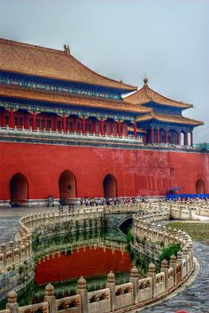 Forbidden City Beijing, China. Tell me that doesn't look like the passageway in Spirited Away.