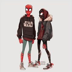 Spider-Men (Peter Parker) (Miles Morales)