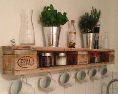 Pallet shelf shelf wall kitchen shelf shelf bathroom shelves book rustic shelves shelves with drawers wood shelves wooden shelves Pallet Kitchen, Diy Furniture, Decorating Shelves, Diy Decor Projects, Wood Diy, Diy Wall, Kitchen Wall Shelves, Diy Furniture Making, Diy Kitchen