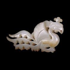 Jade phoenix ornament, Liao dynasty, 10th-11th century AD.