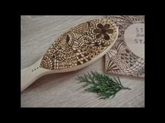 Pyrography on a wooden hair brush Wooden Hair Brush, Pyrography, Wood Burning, Make It Yourself, Youtube, Blog, Woodburning, Youtubers, Youtube Movies