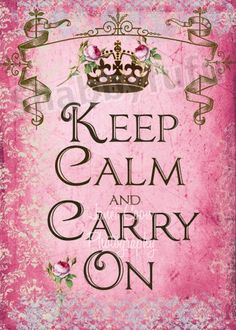 Keep Calm & Carry On Pink 8 X 10 French Canvas Print