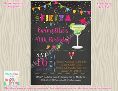 #FiestaBirthdayInvitation #cincoDeMayo #Margaritas #fiesta #birthdayparty